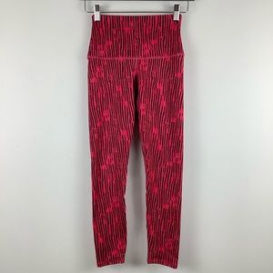 Evolution and Creation Striped Leggings in Pink